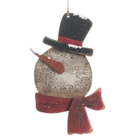 primitive rustic snowman decoration wall art christmas