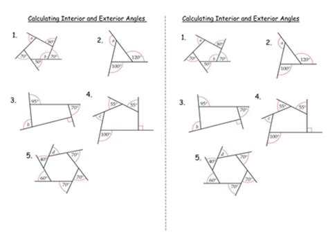 Exterior Angles Worksheet by Interior And Exterior Angles Of Polygons By Clairelogan100