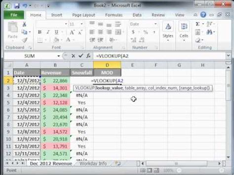 excel tutorial vlookup youtube excel tutorial 17 of 25 vlookup formula youtube