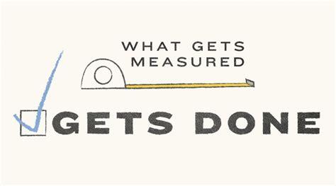 how are measured what gets measured gets done muhammad salik gadit