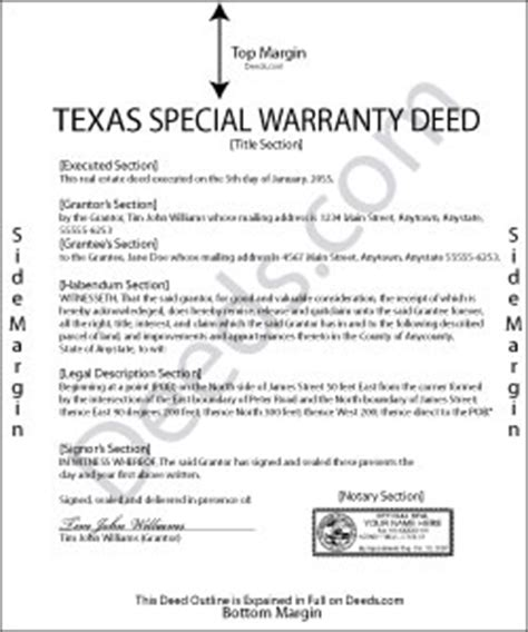 special warranty deed template special warranty deed forms deeds