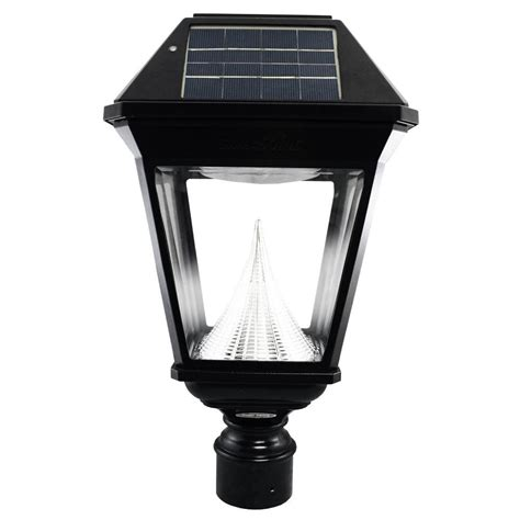 Post Solar Lights Outdoor Gama Sonic Imperial Ii Solar Black Outdoor Integrated Led Post Light On 3 In Fitter With 21