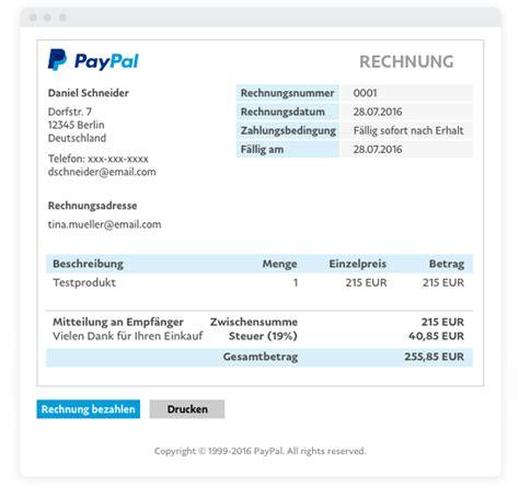 Muster Rechnung Teilzahlung Paypal E Rechnung Rechnung Paypal De