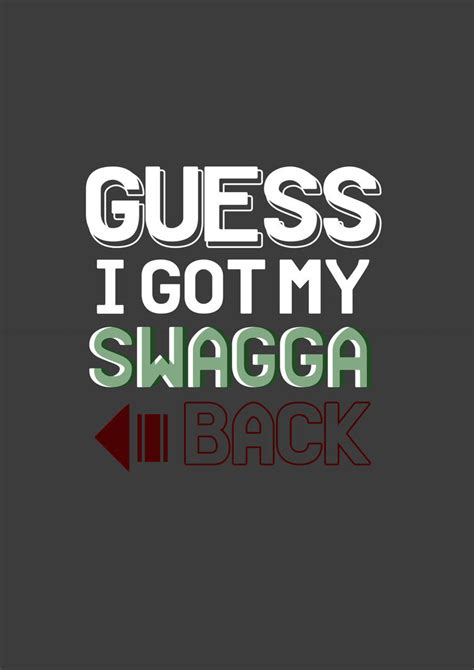 How I Got My Back by Guess I Got My Swagga Back By Ii K3npachi Ii On Deviantart