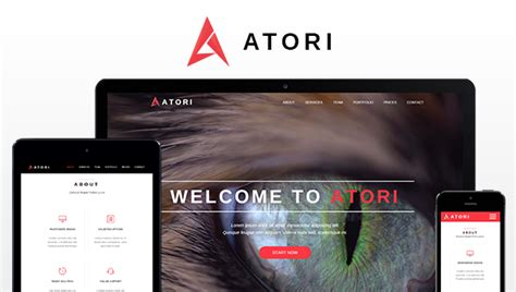 atori one page muse template by pixel lady themeforest