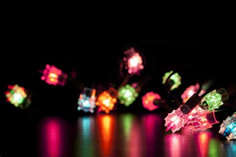 colourful twinkling christmas lights  stockarch  stock