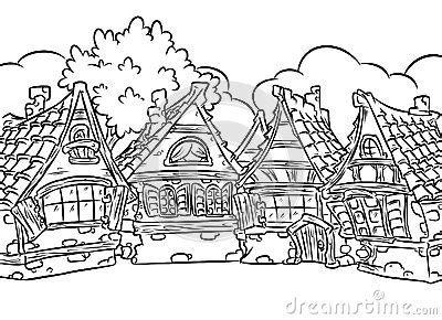 snow village coloring page medieval half timbered houses village coloring page