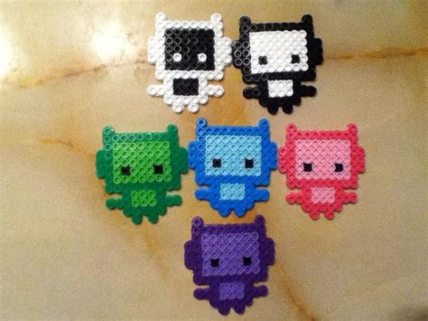 what to do with perler bead creations robots perler bead creations by bamffalocrafts on