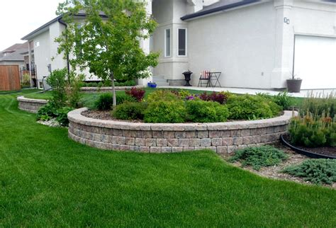 Landscape Timbers Winnipeg Retaining Wall Landscaping Photos Earthworks Landscaping