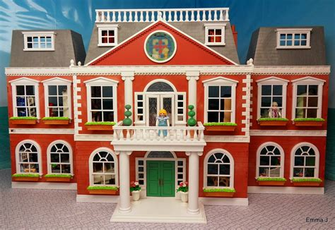 The Red Square Mansion Emma J S Playmobil Playmobil House