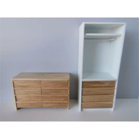 Narrow Wardrobe With Drawers by Modern Dollhouse Furniture M112 Pods Arvo Narrow