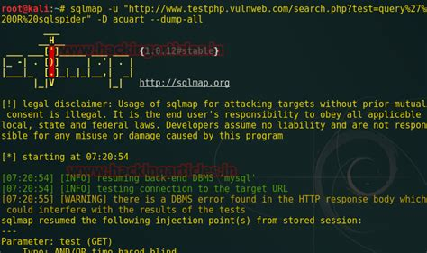 nmap attack tutorial exploiting sql injection with nmap and sqlmap