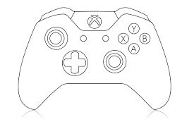 Coloring Page Xbox Controller by Image Result For Xbox Controller Cake Template