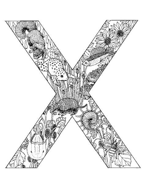coloring page x n 26 kleurplaten alfabet dieren