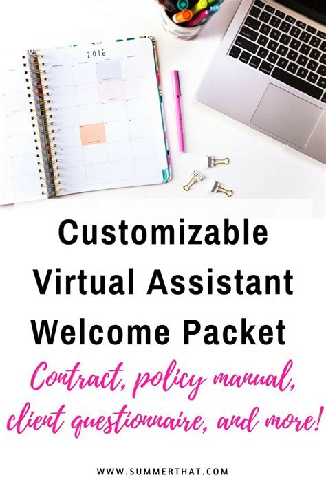 sle business plan virtual assistant customizable virtual assistant welcome packet welcome