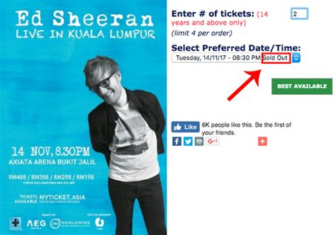ed sheeran malaysia tour 2017 scalpers are reselling tickets to ed sheeran s kl concert