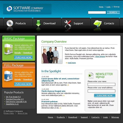 Software Company Website Template 9941 Software House Website Template