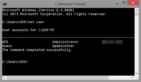 reset user password vista command prompt net user command for administrators in windows 10 8 7