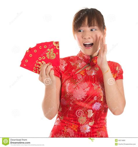Gift For Architecture Student surprise chinese cheongsam girl holding red packets