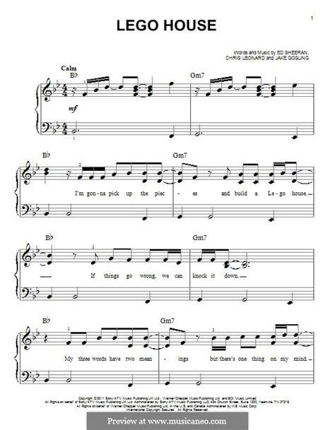 lego house music sheet lego house by e sheeran c leonard j gosling sheet music on musicaneo