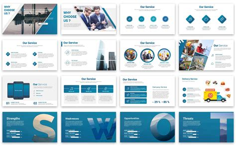 Business Graph Presentation Powerpoint Template 67383 Company Presentation Template