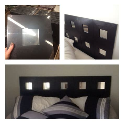 diy mirrored headboard ikea hack quick headboard 1 99 mirrors at ikea affixed