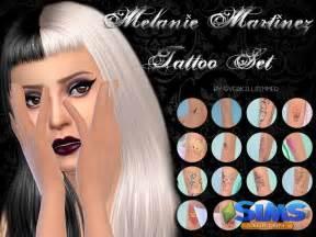 melanie martinez sims 4 cc набор татуировок melanie martinez tattoo set для симс 4