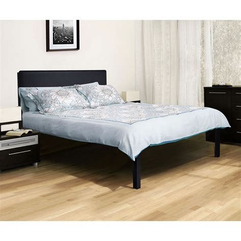 full size modern metal platform bed frame  black