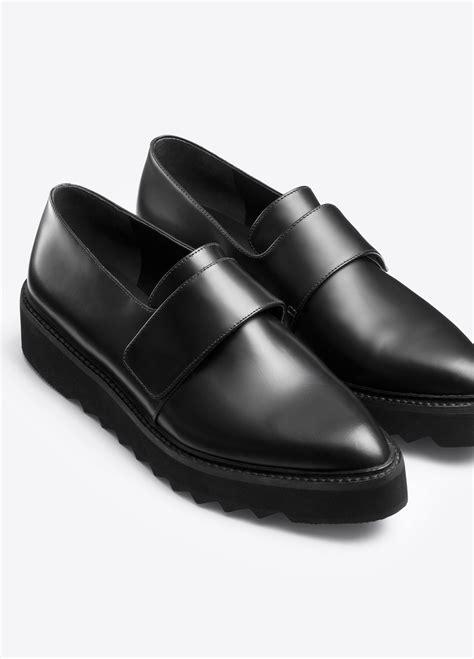 black platform loafers vince ames platform leather loafer in black lyst