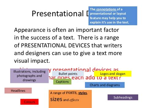 layout features list question 2a presentaitonal features