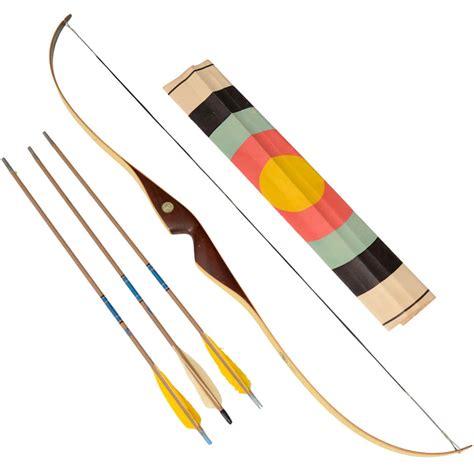 Vintage Little Bear Recurve Rosewood Bow and Arrow Set