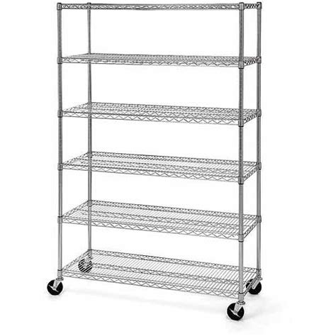 Wire Rack Walmart by Seville Classics 6 Shelf Wire Shelving System Walmart