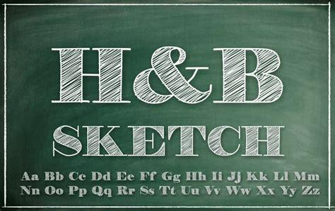 sketchbook font h b sketch font dafont