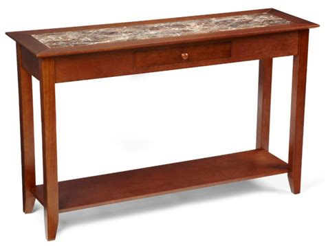 marble sofa table heritage cherry wood marble style console sofa table ebay