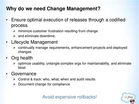 release change management in salesforce dallas salesforce user group january 2012 meeting