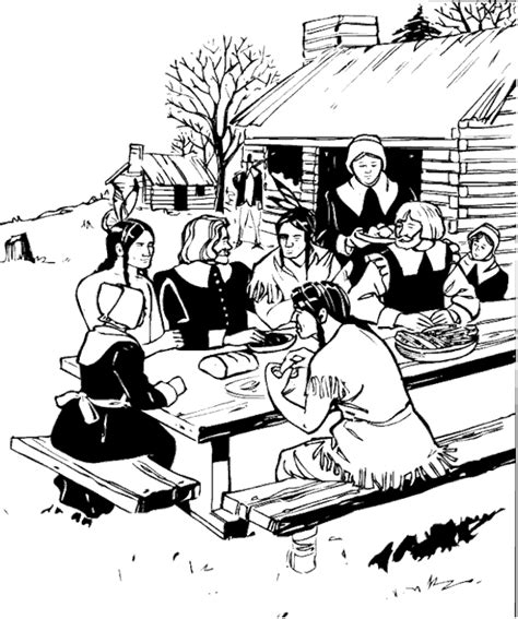 pilgrim village coloring page pilgrim coloring pages