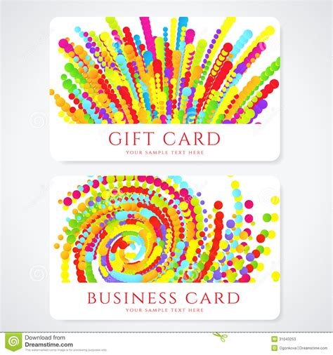 colorful invitation card template colorful business gift card template abstract stock