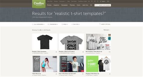 7 Places To Find The Best T Shirt Mockup Templates Ecommerce T Shirt Website Templates