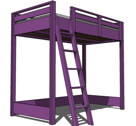 loft bed plans 200 full sized bunk bed
