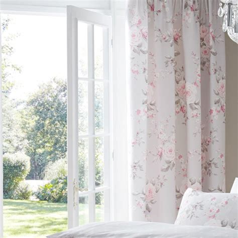 canterbury floral curtains catherine lansfield canterbury floral pencil pleat lined