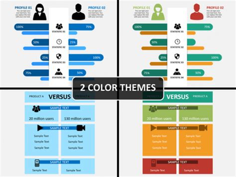 compare infographics powerpoint template sketchbubble
