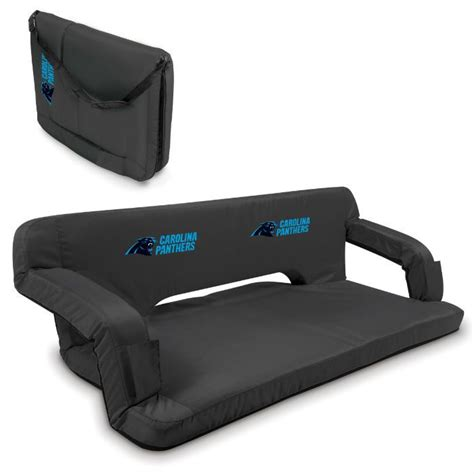 carolina panthers couch carolina panthers nfl black reflex portable couch the o