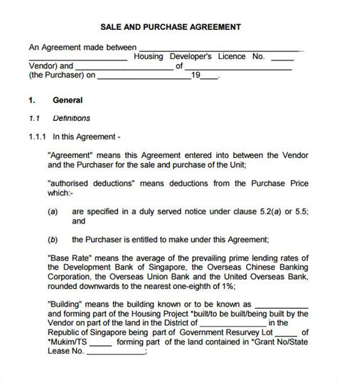 buy template sle buy sell agreement 7 free documents in pdf word