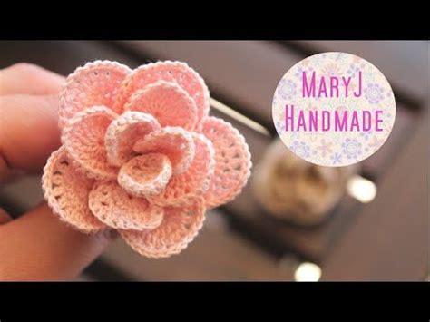 fiori fatti con l uncinetto tutorial rosa all uncinetto facile facile