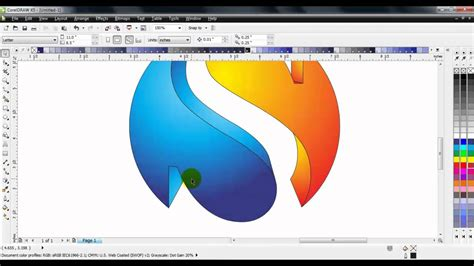 tutorial membuat cover buku dengan coreldraw x5 coreldraw x5 turorial simple 3d sphere logo doovi