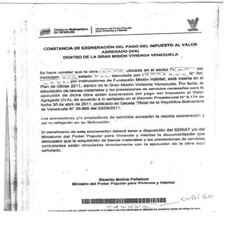 modelo actualizado de carta de no poseer vivienda mundo tributario venezuela 08 06 11