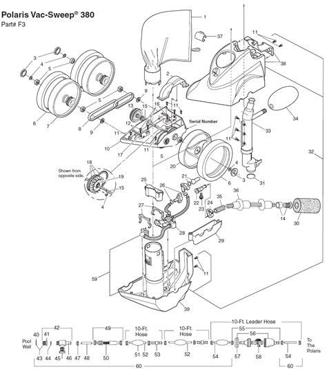 polaris 380 parts diagram polaris 380 pool cleaner replacement parts