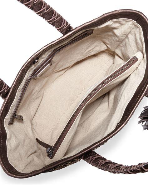 Kooba Metallic Stella Tote by Kooba Camino Metallic Leather Tote Bag In Metallic Lyst