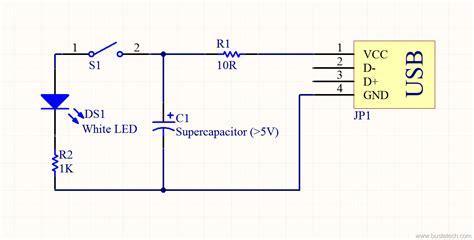usb current limiting resistor supercapacitor usb light bust a tech