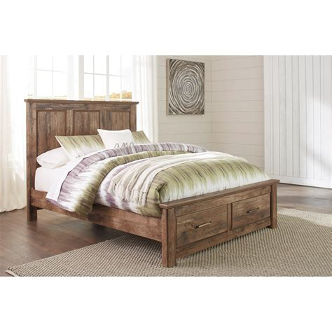 ashley furniture platform beds ashley signature design blaneville rustic style queen
